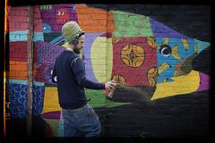 spray (james_drury) Tags: louismasai street art graff graffiti birmingham festival cityofcolours 2016 spray aerosol action portrait environmental