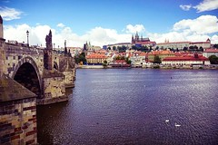 Across the river #CharlesBridge #karlovmost #KarlvMost #travel #photography #Prague #Czech #Travelling #rivers #cities #towns #bridges #heritage #architecture #skyline #afternoons #Europe #vacations (VaibhavSharmaPhotography) Tags: travel travelling heritage skyline architecture river photography europe czech prague cities bridges rivers across charlesbridge towns vacations afternoons karlovmost karlvmost