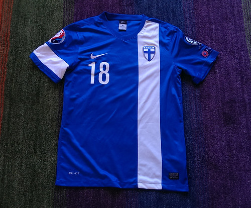 Suomi match worn shirt 2014-15 Jere Uronen