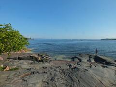 Helsinki Seaside (John of Witney) Tags: sea panorama finland seaside helsinki rocks