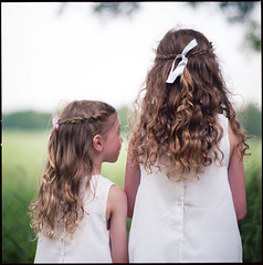 midsummer (smudo) Tags: summer white green 120 6x6 girl analog mediumformat hair square kid midsummer sweden 66 120film hasselblad curly analogue hassy kodakportra160nc 15028 hasselblad2000fc