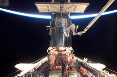 Spacewalk by Astronauts James H. Newman and Michael J. Massimino