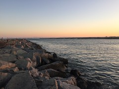 Sunset at Seal Beach CA (alrosa) Tags: california ca gabriel beach yellow river san rocks southern seal iphone6