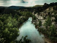 Hondo Creek (flowerweaver) Tags: outdoors landscape creek pristinewater hondocreek flowing limestone cliff junipertrees cool clear serene texture greenscene