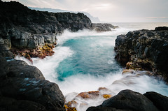 Coastal (HikerDude24) Tags: hawaii kauai nikon d5100 water ocean queensbath seascape landscape sunset princeville longexposure polarizer travel