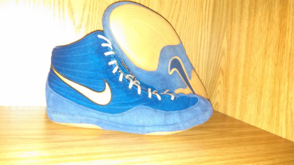 sale retailer 6ca8b 6827a Nike Blue Olympic Edition Inflicts (Wrestling Shoe Museum.) Tags   flickrandroidapp filter