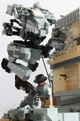 Of Mechs and Men (✠Andreas) Tags: lego diorama mecha mech legomecha legomech thepurge thepurgeeu legosentinel sentinelmech mechakickingwall
