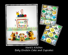 Norie's Kitchen - Baby Einstein Cake (Norie's Kitchen) Tags: birthday cakes cupcakes philippines celebration custom cavite fondant gumpaste babyeinstein bacoor norieskitchen