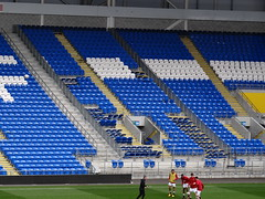 The Away End is Being Extended (joncandy) Tags: new city red wales photo football athletic image stadium soccer cardiff picture final kit squad development league bluebirds u21 charlton ccfc joncandy