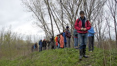 Graig Losos leads these 'early risers' Ontario Walks Flock 'n Walk group for bird sightings at the Annual Tommy Thompson Spring Bird Festival at TTP, Toronto ON. - May 11, 2013. (Michael A. J. Rumig) Tags: spring walks exercise greatlakes lakeontario gta oiseau peacefulness biodiversity marshes magicalplace birdbanding naturephotography featheredfriends tommythompsonpark guidedtour hikingtrails migratorybirds torontowaterfront earlyrisers trca springmigration lesliest earlybirdgetstheworm birdathon walkpark internationalmigratorybirdday tommythompsonparkbirdresearchstation bailliebirdathon ttpbrs birdconservation torontoandregionconservationauthority ontariomedicalassociation ontariowalks tomfiore ontariowalkscom birdingbybike colonialwaterbirds hikeontario municipalityofmetropolitantoronto rebootyourbrainonnaturestreadmill michaelajrumig yourhealthisyourwealth drmarkmacleod rockyourwalk craiglosos torontosurbanwilderness gowildgobirding tommythompsonparkspringbirdfestival torontoswaterfrontpark wildontario torontoslargestgreenspace migrationmonitoringatttpbrs publicurbanwilderness 2013walkhikeevents flocknwalktommythompsonparkbirdfestival2013 flocknwalk stopoverhabitatformigratingbirds ttpbrsteam birdathonerteam expertbirder earlybirdhike beginnerbirders experiencedbirder greatpastime adventurouschallenge gettoknowcontest ubernaturalists agentsofnature