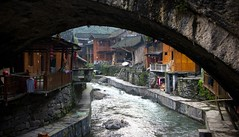 Dehang Under the Bridge - Small edit (Ben Varley) Tags: china old beautiful river town village traditional chinese tradition arcitecture hunan jishou dehang southeastchina chinesearcitecture