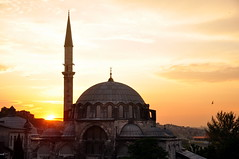 Sunset in Trkiye (Mahaseena RT) Tags: light sunset sun beautiful turkey evening asia europe place dusk muslim islam prayer turkiye istanbul mosque dome domes maha ankara rt 2013 mahaseena