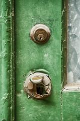 Green Door--Antique Latch (PAJ880) Tags: door ri architecture lock antique providence tamron latch 70300