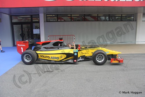 Marcus Ericsson's GP2 car at the 2013 Spanish Grand Prix