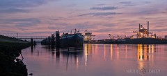 Pink Sunset - IJmuiden, The Netherlands (www.caseyhphoto.com) Tags: world life travel viaje sky holiday holland reflection history industry tourism water netherlands dutch night clouds photography noche boat canal photo agua nikon aqua europa europe industrial factory ship image nacht earth pano explorer culture eu bank structure best adventure explore vision northsea vida cielo civilization mundial nikkor visual 800 vacaciones mundo learn structural hemel global sunet discover aventura tierra benelux ijmuiden velsen 2470f28 descubrir urbansuburban mygearandme