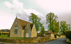 Village Hall and St Edmund's Parish Church - Warkton (MickyFlick) Tags: england history architecture rural village northamptonshire peaceful olympus architectural historic historical naturalbeauty villagehall parishchurch stedmunds stonebuilt warkton mickyflick
