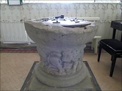 Shobdon - St John the Evangelist Church (pefkosmad) Tags: interior lion baptism font christening herefordshire romanesque shobdon stjohntheevangelistchurch