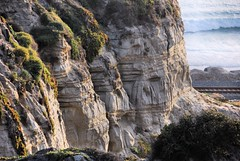 Cliff and surf (EmperorNorton47) Tags: california railroad cliff beach digital photo tracks sanclemente sanclementestatebeach