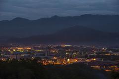 Dusk at 6.45pm Kota Kinabalu. (Andy @ Pang Ket Vui ( shootx2 )) Tags: city night landscape lights nikon dusk scape kota kinabalu d800