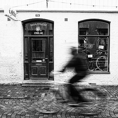 Bicycle incorporated - Gothenburg, Sweden. (StreetPeople) Tags: portrait blackandwhite bw monochrome square photography blackwhite moments candid streetphotography documentary squareformat streetphoto unposed blacknwhite bnw streetpeople tog decisivemoment streetcandid streetbw streetphotographybw bestcamera iphoneography streetphotobw instagramapp uploaded:by=instagram streetog worldstreetphotography danieleliasson
