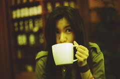 coffee time (bebopbeboplomography) Tags: film coffee girl analog indonesia bebop bebopbebop