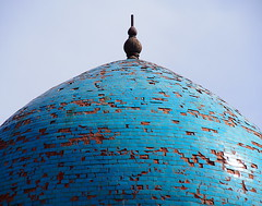 Uzbekistan 2013 (hunbille) Tags: derelict dilapidated uzbekistan shakhrisabz kok gumbaz mosque kokgumbaz cupola dome
