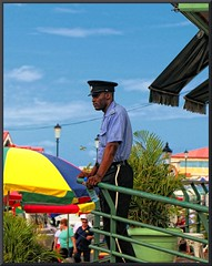 Dominica Police Officer (d13m7) Tags: cruise train caribbean equinox dominica pspx4 paintshopprox4
