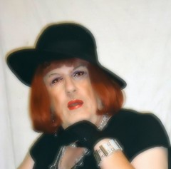 6-18-12 (prettysissydani) Tags: portrait hat crossdressing redhead gloves