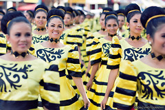 Black & Yellow, Black & Yellow (giovzaid85) Tags: ladies black yellow festival feast dancers philippines cebu sinulog