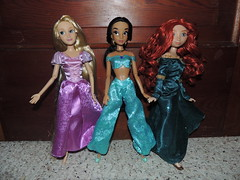 New 2013 Disney Store Classic Dolls (They Call Me Obsessed) Tags: new classic store doll dolls jasmine disney brave rapunzel tangled 2013 baribe merdia