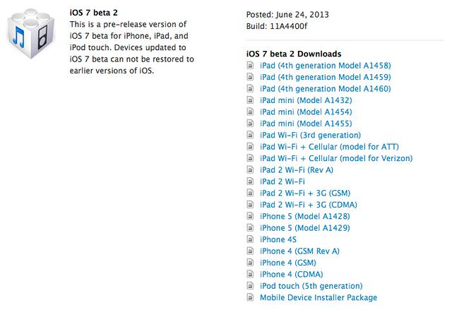 IOS 7 Beta 2 出來了 .....