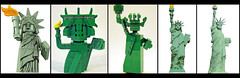 Five Scales of The Statue Of Liberty (Joel.Baker) Tags: scale statue liberty nose lego dude cube legoland minifigure miniland minilander
