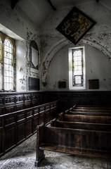 Forgotten (photographie par kim) Tags: old abandoned church yorkshire religion wentworth urbanexploration aged pews rotherham southyorkshire oldholytrinitychurch