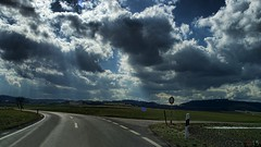 Nowhere Road (fs999) Tags: auto road clouds paintshop driving pentax strasse wide wolken route paintshoppro 20mm luxembourg nuages ontheroad luxemburg k5 topaz corel adjust aficionados pentaxist soligor artcafe ontheroadagain surlaroute fahrend ltzebuerg 80iso topazlabs pentaxian elitephotography ashotadayorso justpentax conduisant topqualityimage wideauto zinzins flickrlovers topqualityimageonly fs999 fschneider pentaxart pentaxk5 soligorcdwideauto20mmf28 soligor20 adjust5 x5ultimate paintshopprox5ultimate