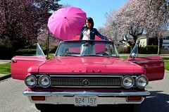 Pretty in Pink (Pennan_Brae) Tags: pink vancouver cherry classiccar blossom springtime buickskylark