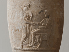 Farewell (Egisto Sani) Tags: sculpture berlin art classic museum greek arte marble period funerary greca pergamon berlino marmo classico periodo lekythos funeraio philurgos