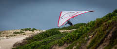 A Hangglider in the Dunes (Laurent jL Photography) Tags: sport photography nikon australia 2012 hangglider d800 hanggliding actionphotography centralcoastnsw