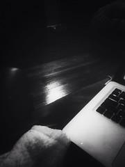 random night(s). (belle.fleur) Tags: blackandwhite woman night computer bedroom mac mood random room leg lonesome longnight alidajolie originalfilter uploaded:by=flickrmobile flickriosapp:filter=original