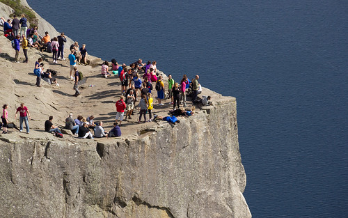 People atop the Preikestolen