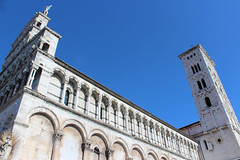 IMG_2790.jpg (She Curmudgeon) Tags: italy tower window angel facade madonna lucca column marble romanesque florence2013 pisanmarble