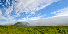 Lord You Mist One (RG Rutkay) Tags: clouds newfoundland nfldtrip sun tablemountains wreckhouse fog winds panoramic composite panorama