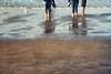 observe (silviaON) Tags: november sea beach legs watching jeans textured 2013 memoriesbook bsactions flypapertextures