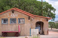 Lamy Depot (Kittroid) Tags: summer newmexico wagon trainstation depot lamy traindepot 2013