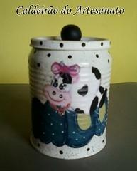 Decoupagem em Lata (Caldeirão do Artesanato) Tags: portatreco decoupagem latadecorada artesanatoemlata reciclandolata