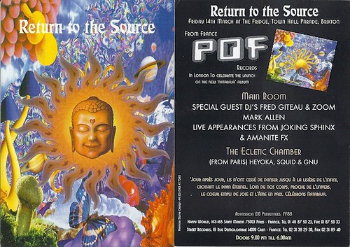 "Patrice Heyoka - Flyer 14/03/1997 - ""Return To The Source"" @ The Fridge (Brixton) <a style=""margin-left:10px; font-size:0.8em;"" href=""http://www.flickr.com/photos/110110699@N03/11351690434/"" target=""_blank"">@flickr</a>"