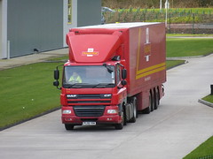PL08 YRM (Cammies Transport Photography) Tags: truck amazon mail centre royal lorry cf distribution dunfermline daf pl08yrm