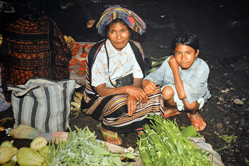 Indonesia - Flores - Market - Woman Selling Vegetables
