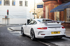 GT3. (Alex Penfold) Tags: white london cars alex car 911 super ne porsche autos mayfair 77 supercars 991 gt3 penfold 2014 77ne