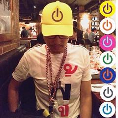 หมวกแก๊ป #BangkokShutdownCap 7 สี ราคา 300 บาท เริ่มจำหน่ายวันอาทิตย์ที่ 26 มกราคม 2557 ตั้งแต่ เวลา 17.00 น. ที่เวทีชุมนุมอโศก จัดทำโดย @atisith @haritya @milindeb และเพื่อนๆ @tayateepsuwan รายได้ไม่หักค่าใช้จ่ายทั้งหมดมอบใหั กปปส. และ คปท. #thaiuprising