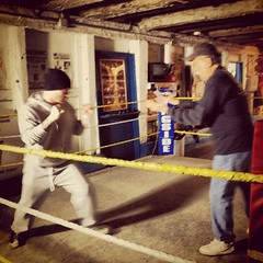 """I want to thank Gloria and the WPAL for these action shots from the video shoot! Gettin my footwork together with legendary trainer Jimmy Cvetic. #roundandround #breathbybreath #urbanrock • <a style=""""font-size:0.8em;"""" href=""""https://www.flickr.com/photos/62467064@N06/12208187634/"""" target=""""_blank"""">View on Flickr</a>"""